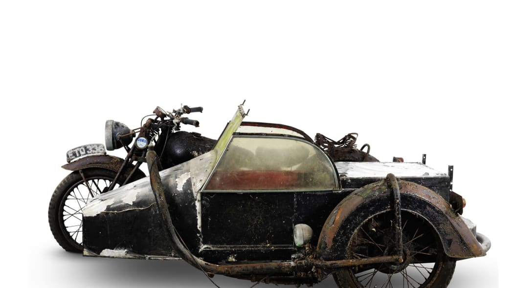 1938 brough superior 982cc ss80 with sidecar side