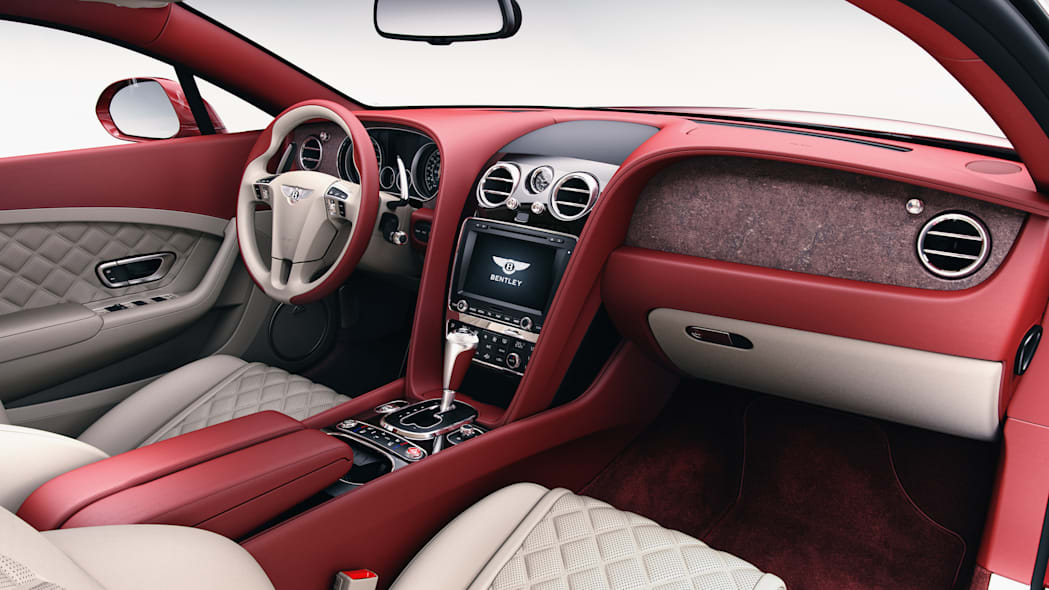 Bentley Continental GT wood trim red