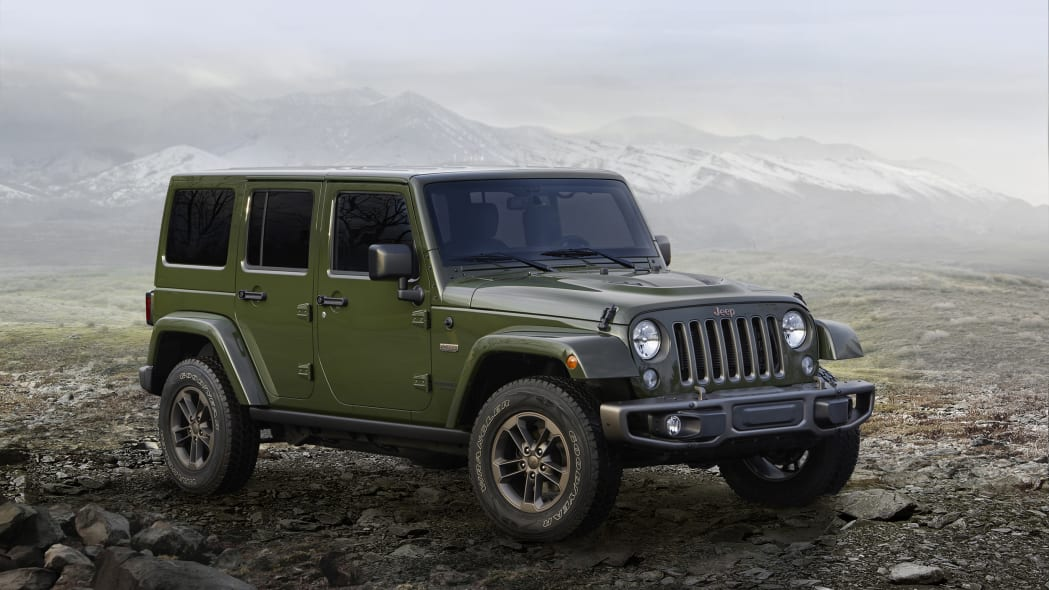2016 Jeep Wrangler 75th Anniversary Edition front 3/4