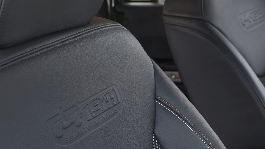 2016 Jeep Wrangler 75th Anniversary Edition seat back trim detail