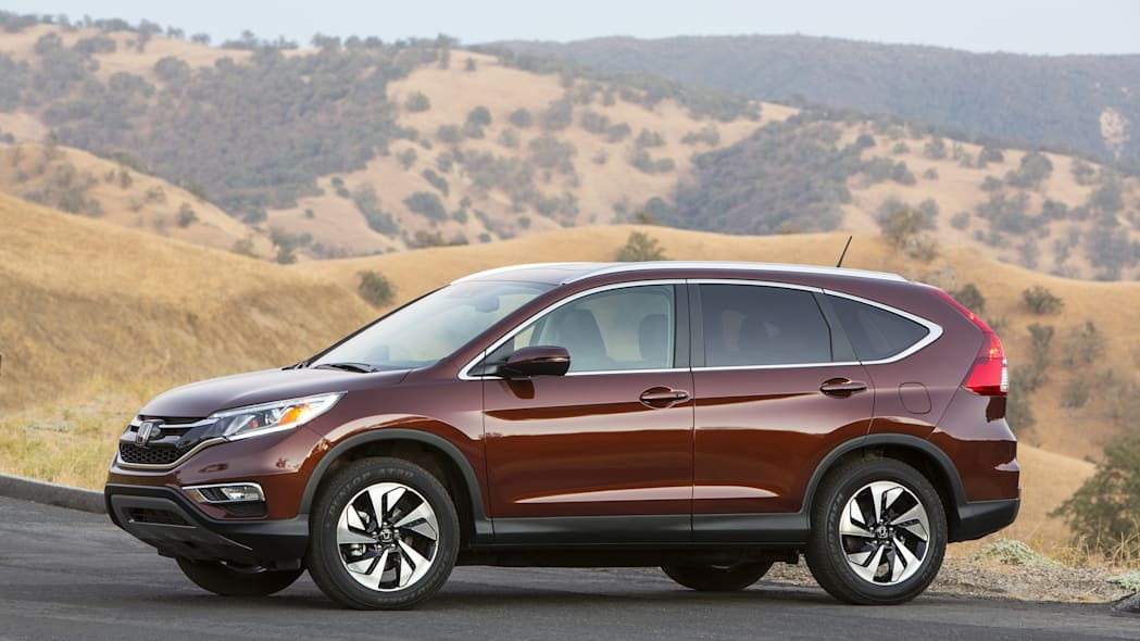 Honda CR-V in deep red