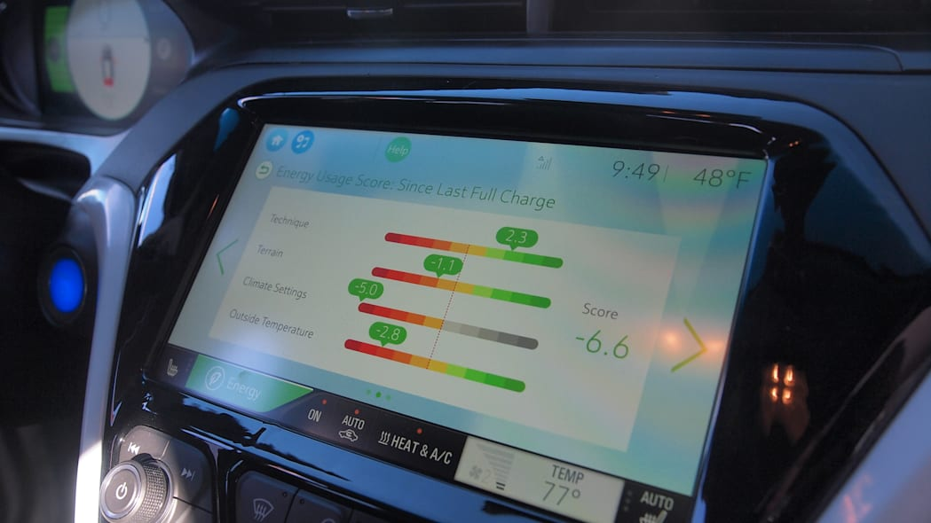 Chevy Bolt Prototype screen in Las Vegas during CES 2016.