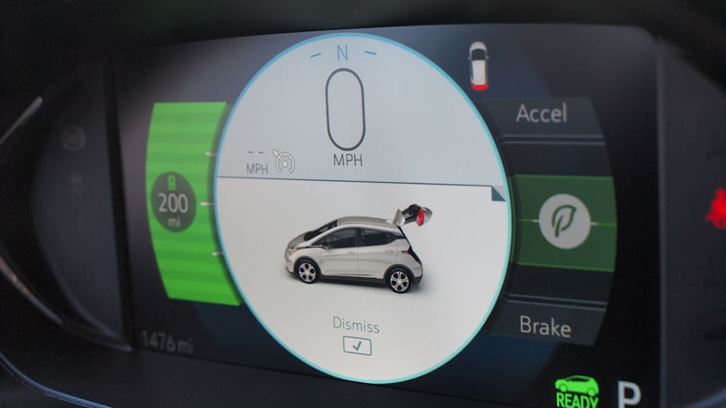 Chevy Bolt Prototype dashboard screen in Las Vegas during CES 2016.