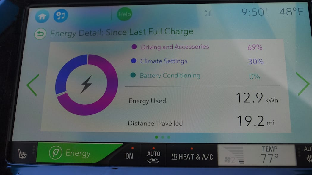 Chevy Bolt Prototype info screen in Las Vegas during CES 2016.