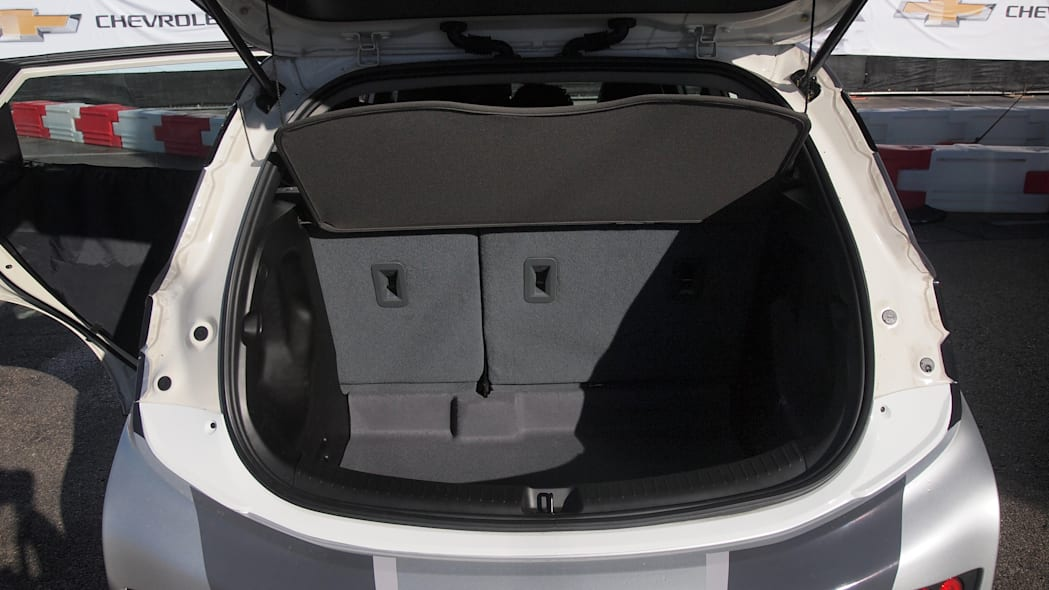 Chevy Bolt Prototype rear hatch open in Las Vegas during CES 2016.