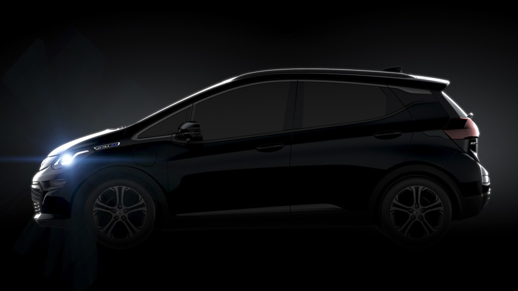 2017 Chevy Bolt, profile in shadow