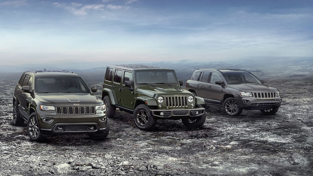 2016 Jeep 75th Anniversary Editions group