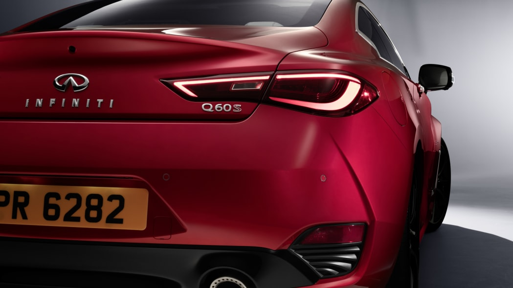 The 2017 Infiniti Q60 Coupe, taillights.