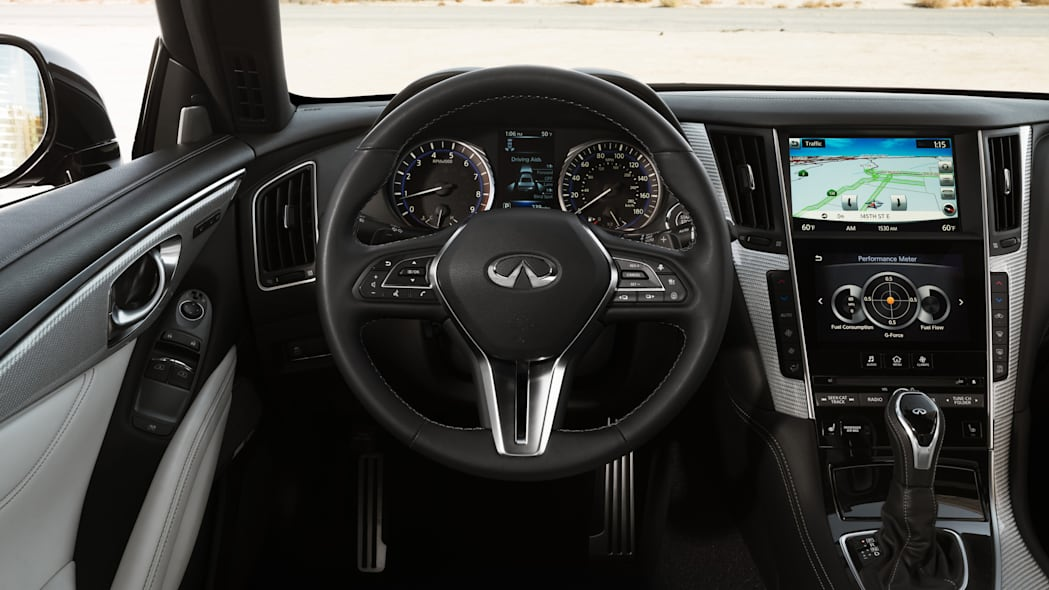 The 2017 Infiniti Q60 Coupe, instrument panel.