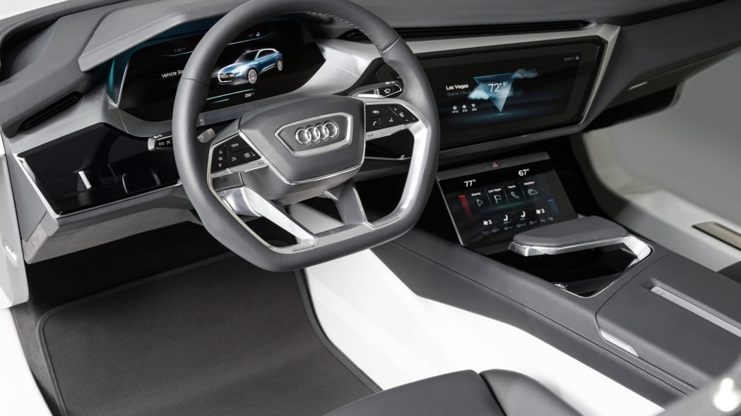 Audi Virtual Dashboard driver's view