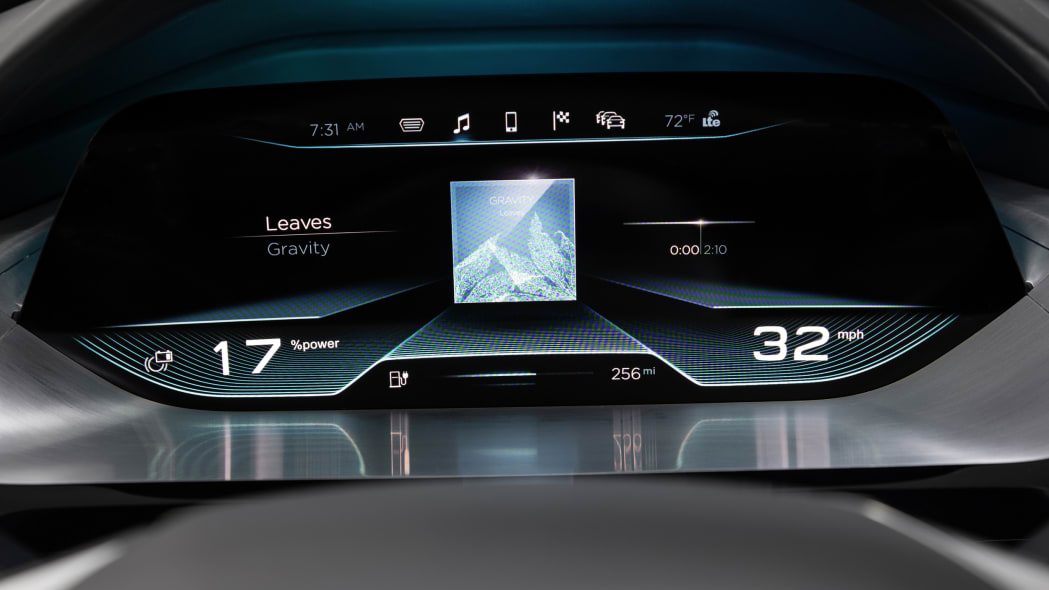 Audi Virtual Dashboard gauge display
