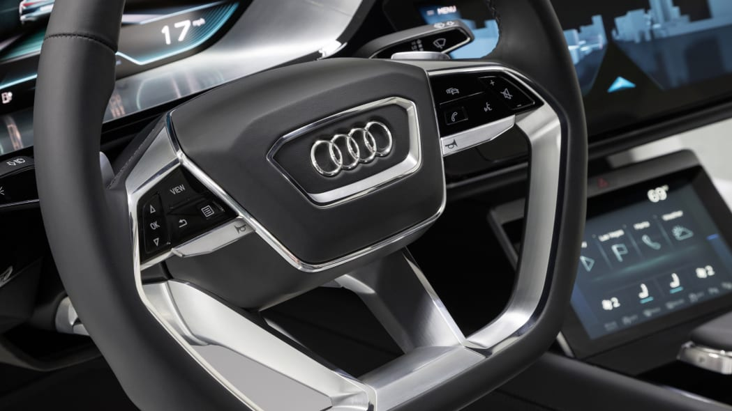Audi Virtual Dashboard steering wheel close-up