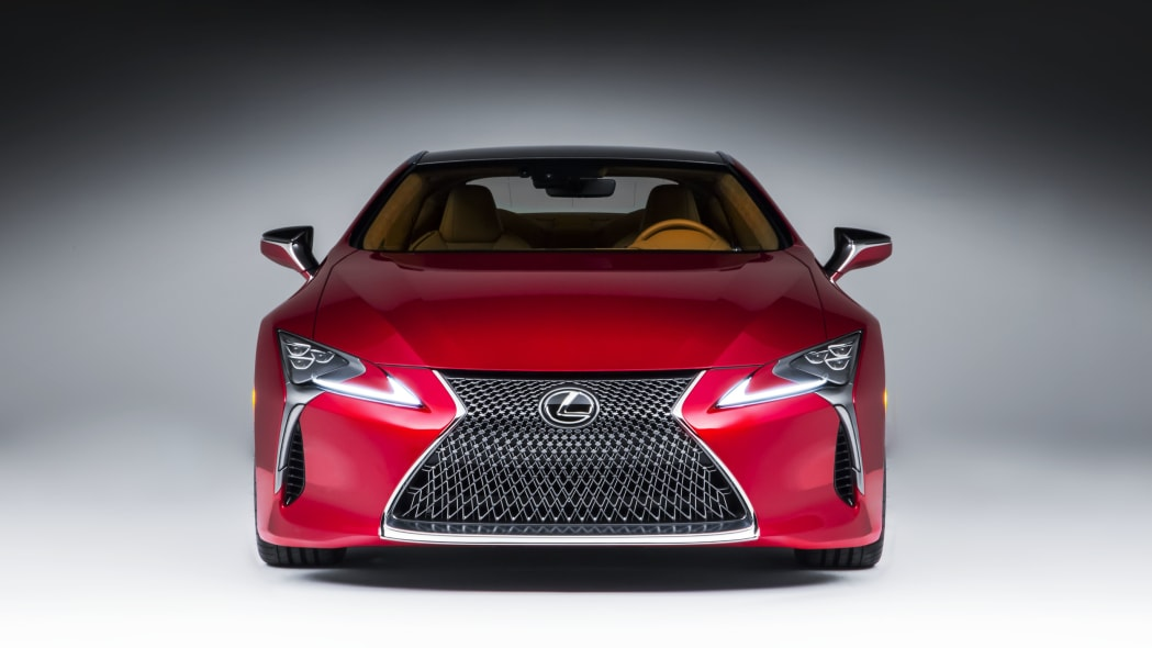 2017 lexus lc 500 coupe front