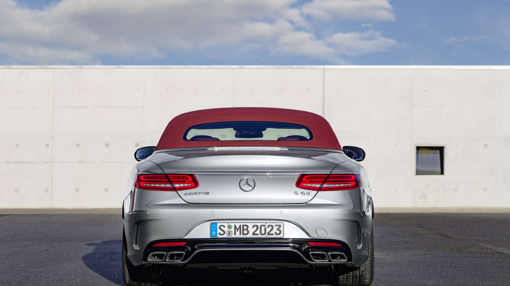 Mercedes-AMG S63 4Matic Cabriolet Edition 130 roof up rear
