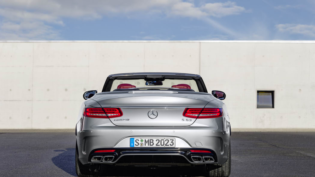 Mercedes-AMG S63 Cabriolet Edition 130 roof down rear