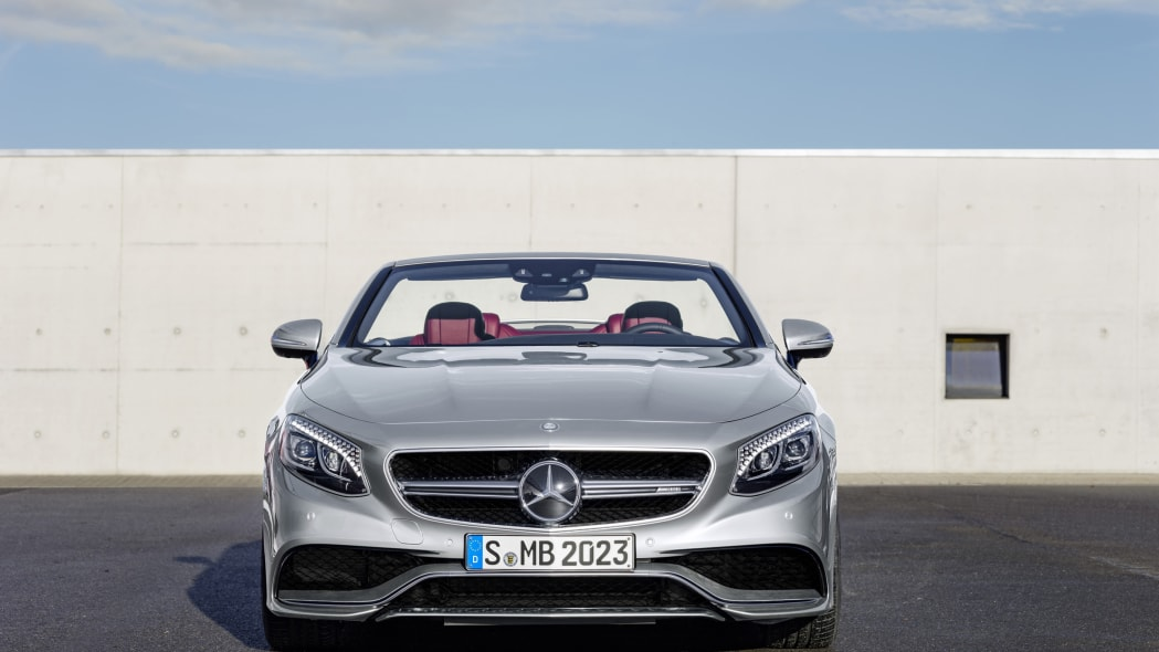 Mercedes-AMG S63 Cabriolet Edition 130 roof down front