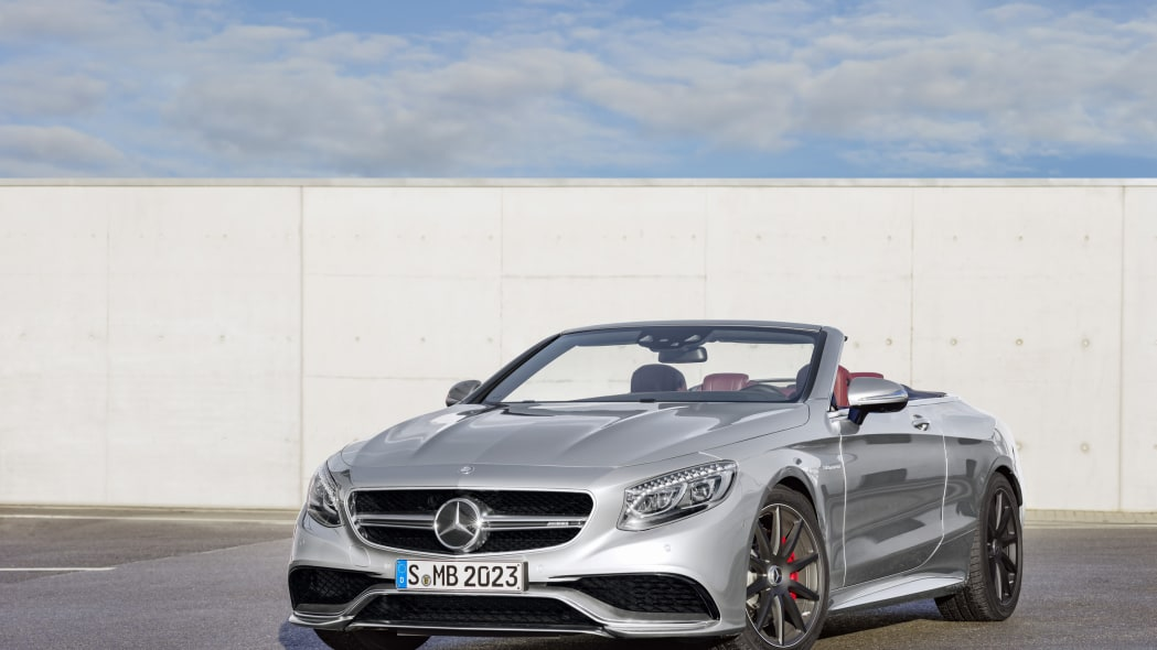 Mercedes-AMG S63 Cabriolet Edition 130 roof down front 3/4