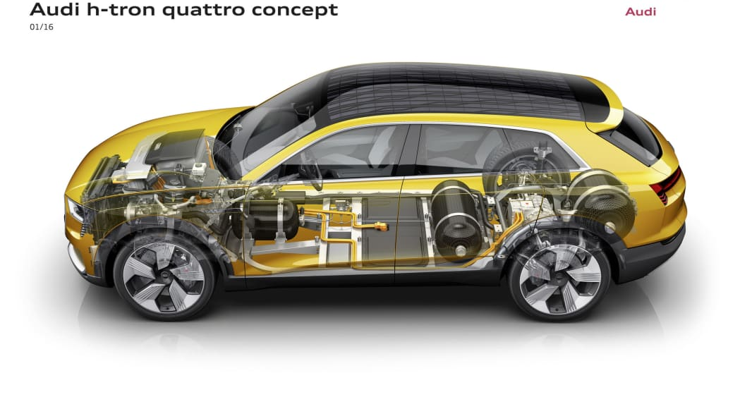 audi h-tron concept rendering side