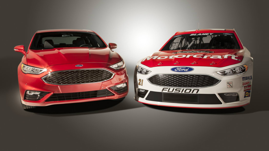 Ford NASCAR Fusion side by side