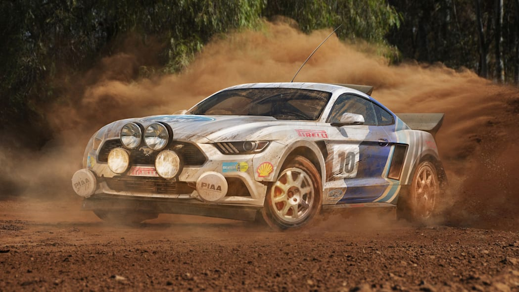 ford mustang wrc rally render
