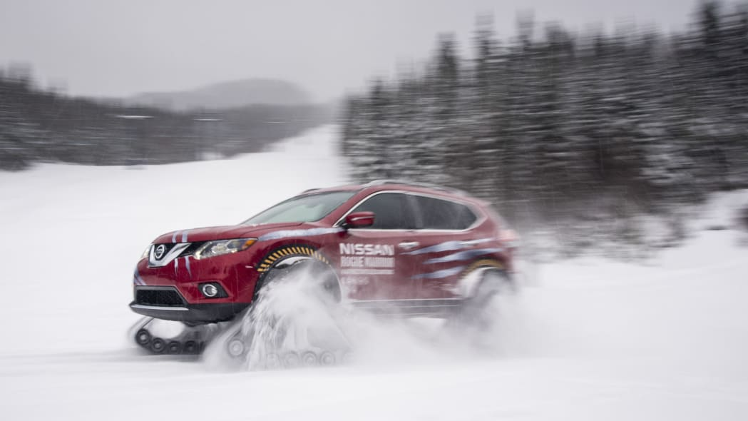 nissan rogue warrior three quarters in the snow