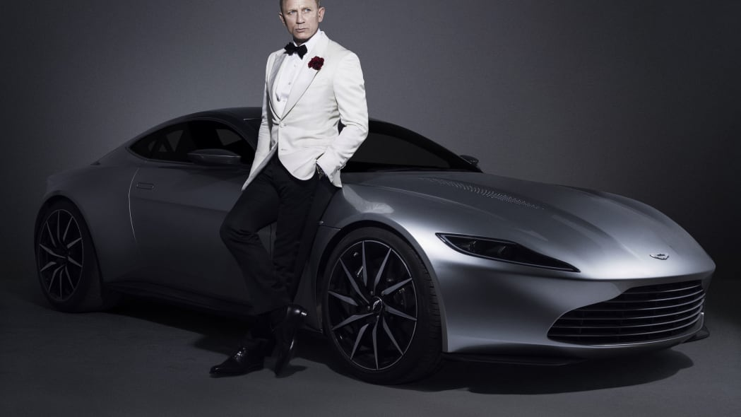 aston martin db10 three quarters with daniel craig