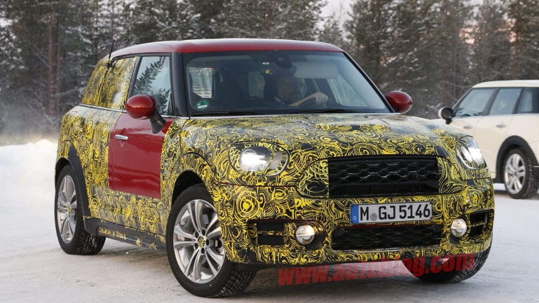 mini countryman spy shots grille and headlights