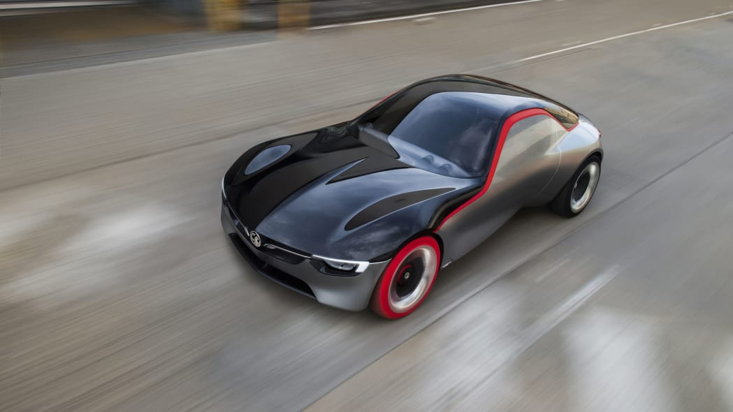 vauxhall gt concept top on road