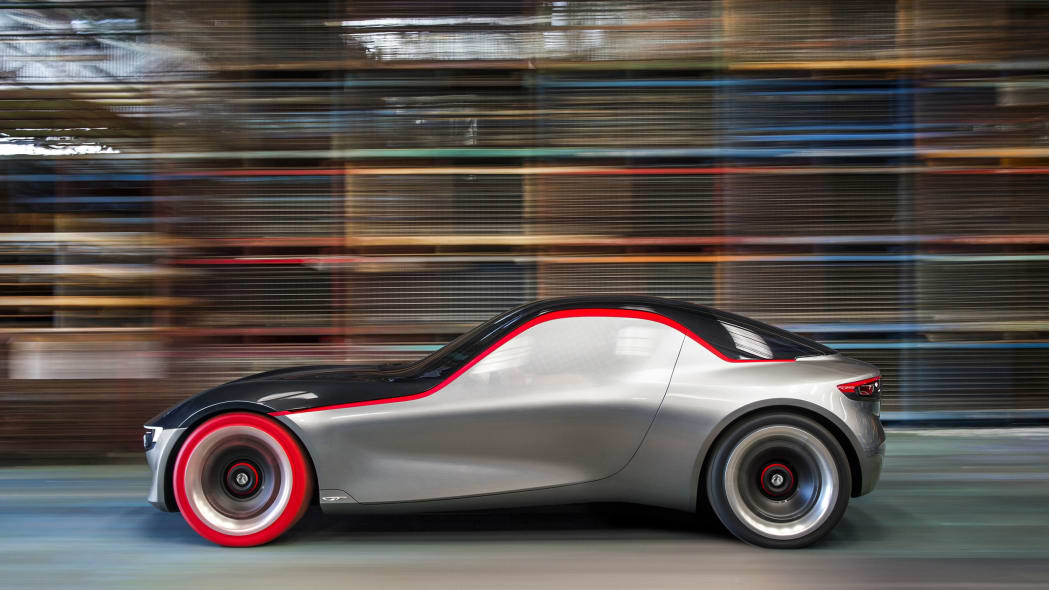vauxhall gt concept side on street