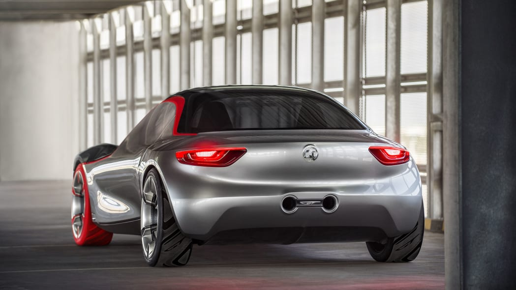 vauxhall gt concept rear taillights and exhaust