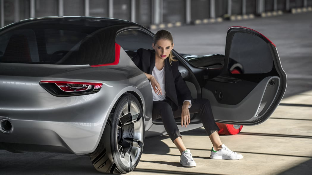 vauxhall gt concept with model
