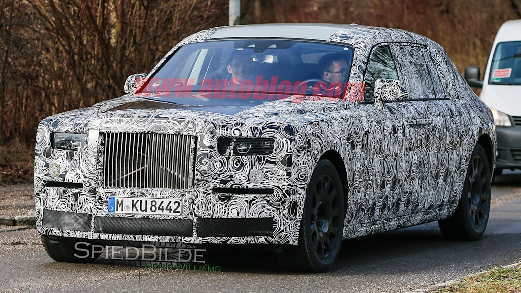 spied phantom rolls-royce camo grille luxury