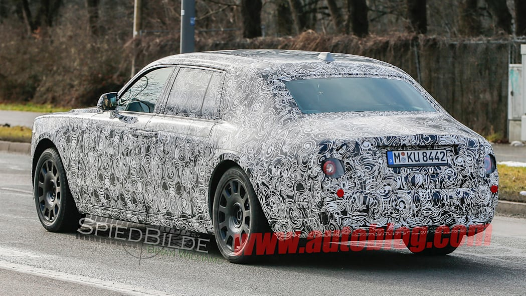 phantom rolls-royce rear taillights spied