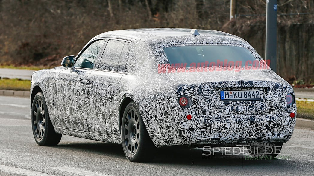 spied rolls-royce phantom sedan camo