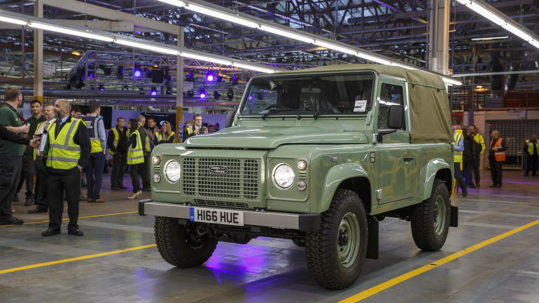 land rover defender 90 heritage soft top front