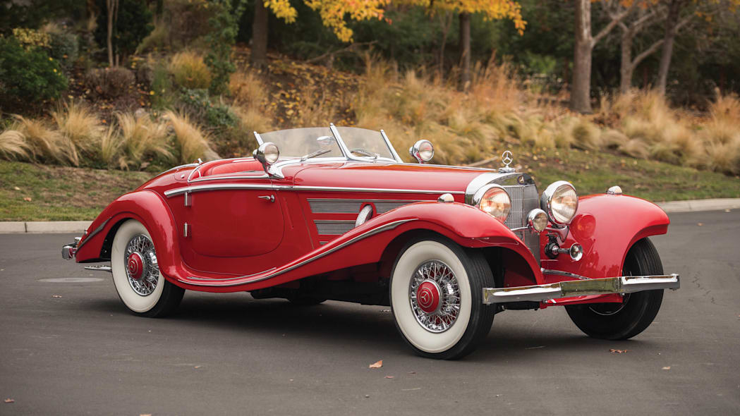 1937 Mercedes-Benz 540K Special Roadster static front 3/4
