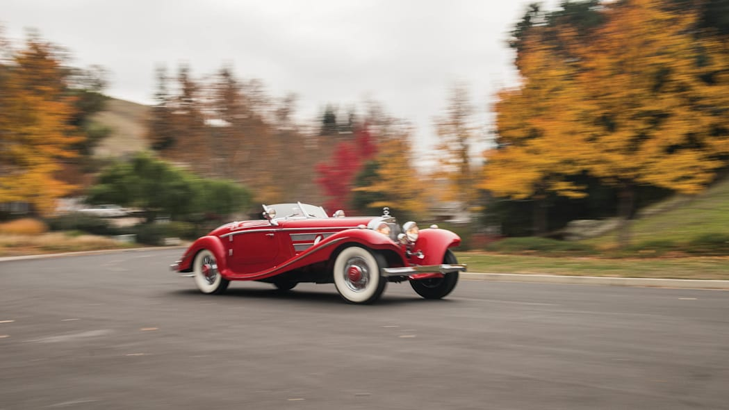 1937 Mercedes-Benz 540K Special Roadster moving