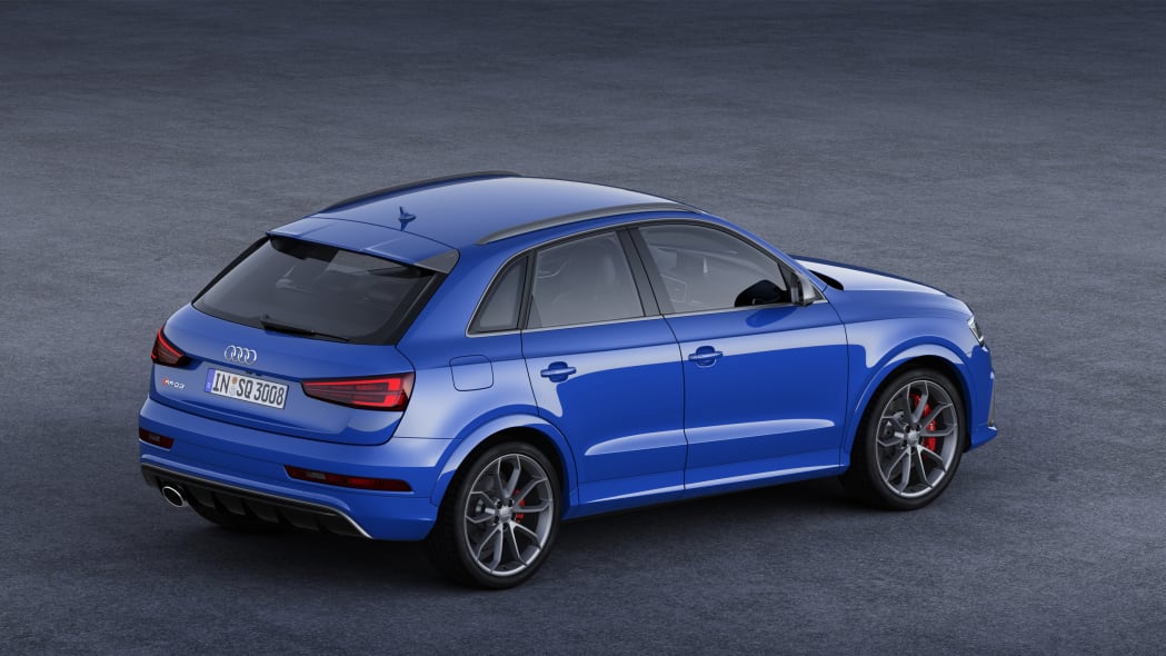 2016 Audi RS Q3 Performance static above rear 3/4
