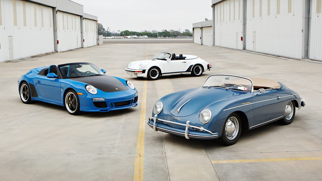 2011 997 Speedster, 1989 Porsche 911 Speedster and 1957 Porsche 356 A Speedster from The Jerry Seinfeld Collection