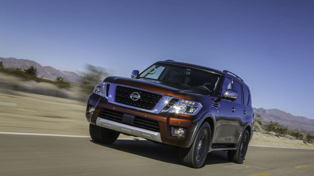2017 nissan armada front on the road