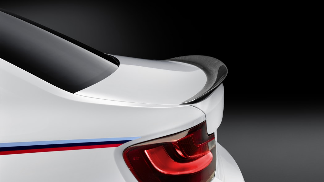BMW M2 with M Performance Parts rear spoiler
