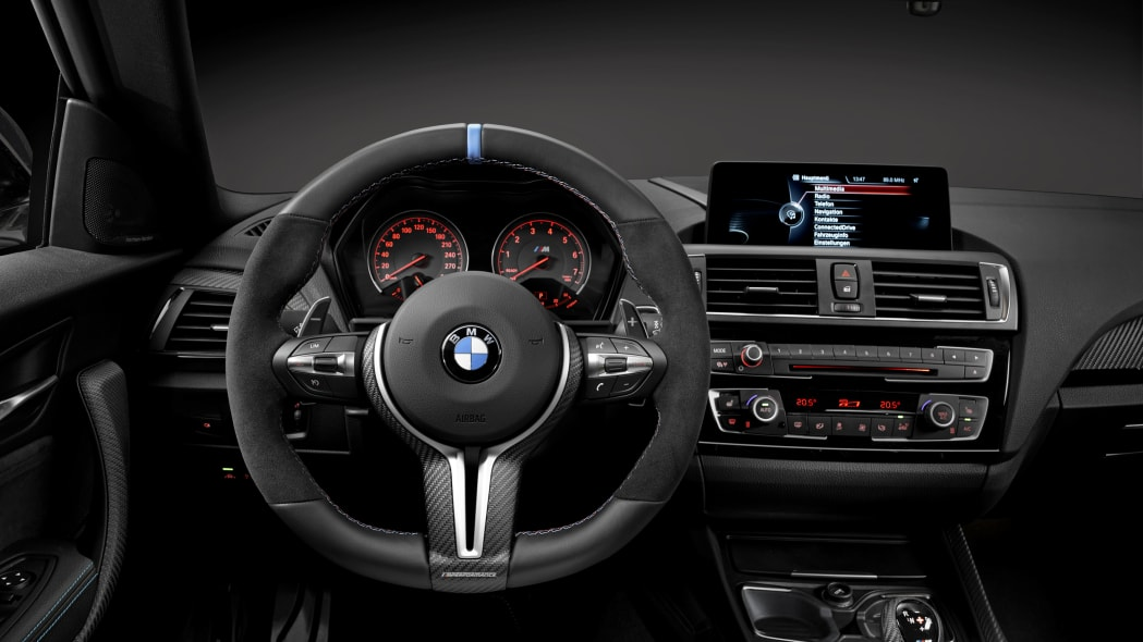 BMW M2 with M Performance Parts dashboard