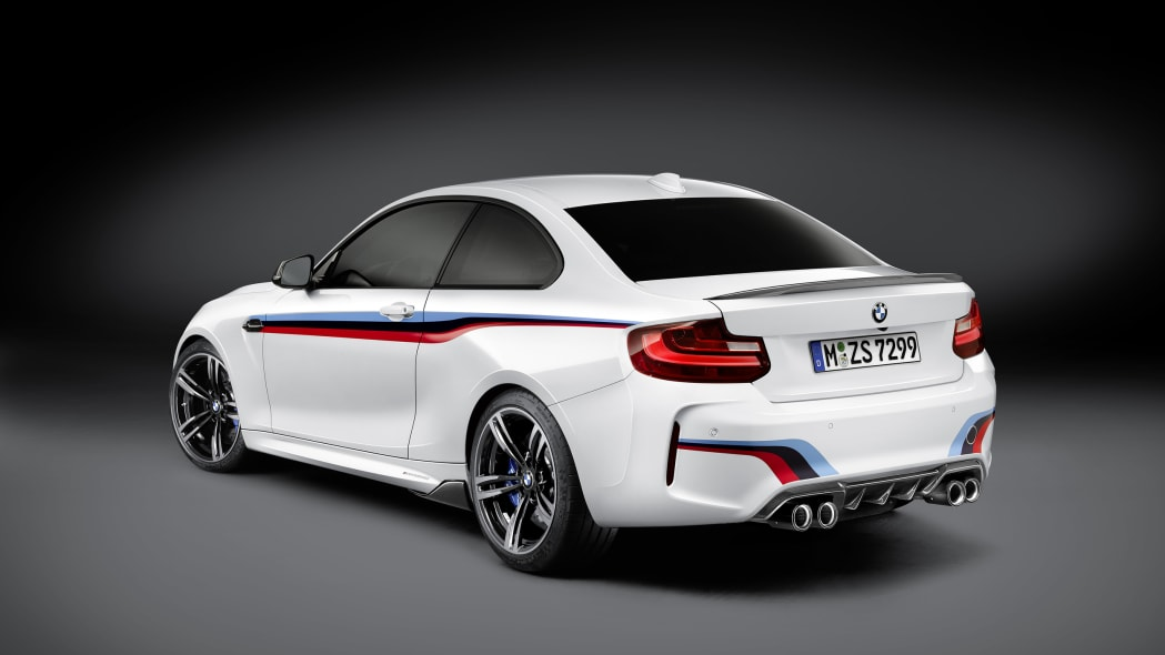 BMW M2 with M Performance Parts rear 3/4