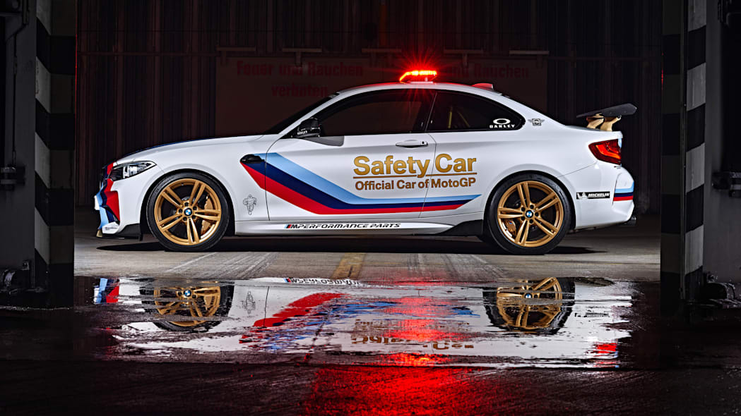 BMW M2 MotoGP Safety Car profile