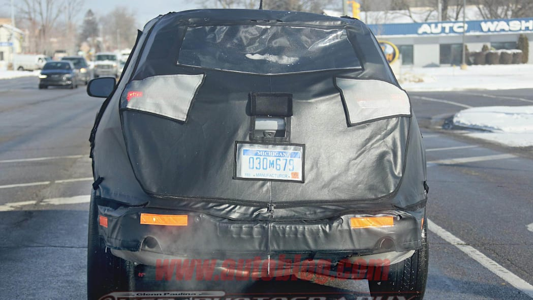Jeep Cherokee stretched wheelbase prototype rear