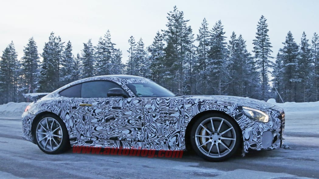 Mercedes-AMG GT R cold weather spied