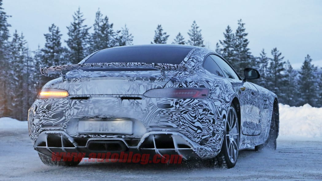 Mercedes-AMG GT R cold spied rear 3/4