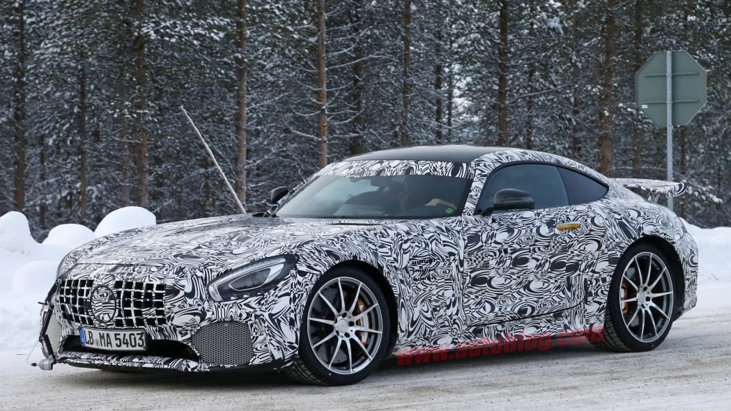 Mercedes-AMG GT R Winter Testing front 3/4