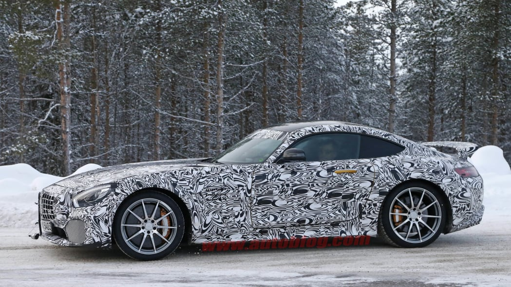 Mercedes-AMG GT R cold weather testing side