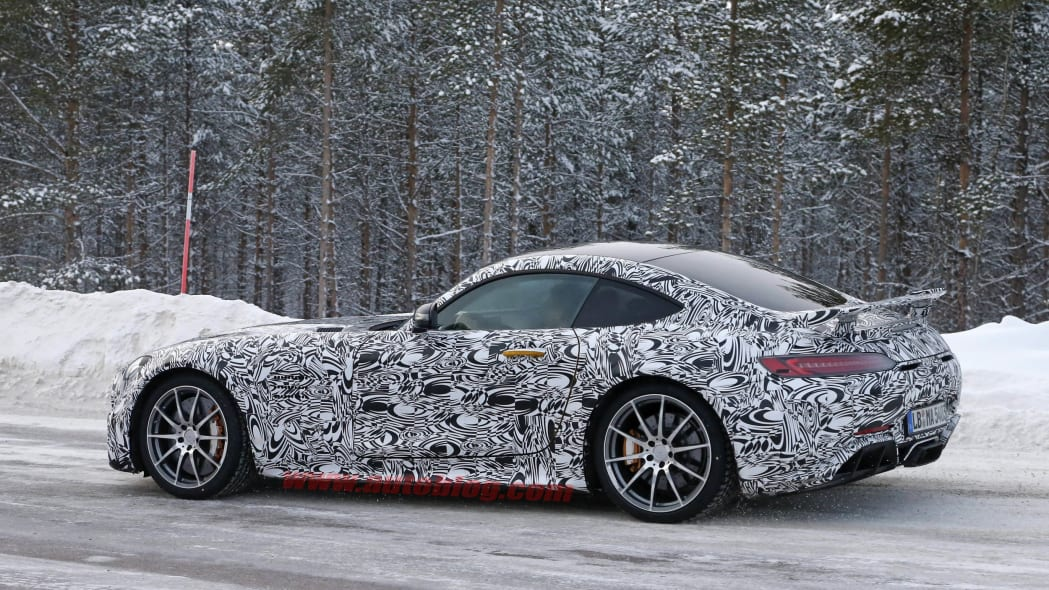 Mercedes-AMG GT R cold weather testing rear 3/4